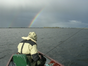 Bryan Hughes fishing a nice drift on Lough Corrib